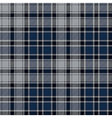 Blue diagonal check plaid seamless fabric texture vector image