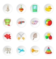 Toy icons cartoon style vector image
