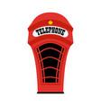 cartoon london phone booth vector image