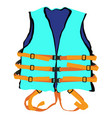blue life jacket vector image