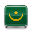 Metal icon of Mauritania vector image