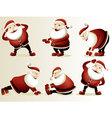 Cartoon Santa Claus gymnastics vector image