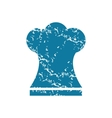 Grunge chef hat icon vector image