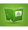 Blank book open template vector image