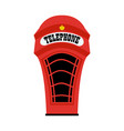 cartoon london phone booth vector image