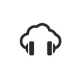 cloud music concept icon vector image