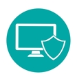 computer shield server banner icon vector image