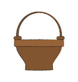 empty basket isolated vector image