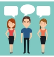 people talking speech communication vector image