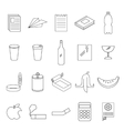 Set of line garbage signs vector image