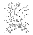 young deer in the forest vector image