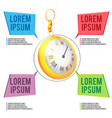 gold clock time template background vector image