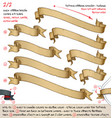 papyrus ribbons diagonal top left towards bottom vector image