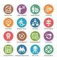Business Icons Set 3 - Dot Series vector image vector image