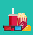 cinema design in flat style vector image
