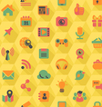Social Networking Hexagon Yellow Pattern vector image