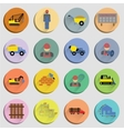 Construction Flat Icons Set vector image