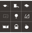 study icon set vector image