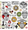 Set of Mexican symbols vector image