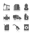 Oil industry petroleum processing icons set vector image