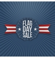 Flag Day Sale patriotic Banner with Text vector image