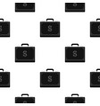 Briefcase full of money pattern flat vector image