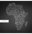 geometric africa madagascar continent dark vector image