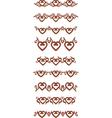 Heart border vector image