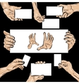 Holding hands set vector image