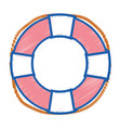 life buoy object to security emergency vector image