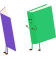 mascot cartoon book read book vector image