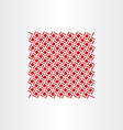 red square dot pattern seamless background vector image