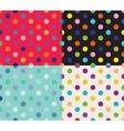 Set of four polka dot patterns vector image