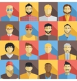 Set of Men Avatars Icons Colorful Male Faces vector image