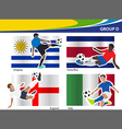 Soccer football players Brazil 2014 group D vector image