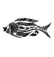 Tangle Patterns stylized Fish vector image