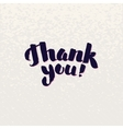 Thank You Hand lettering handmade vector image