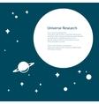 Planet with Saturn and Stars in the Universe vector image