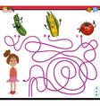 path maze activity task vector image vector image