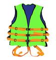 green life jacket vector image