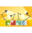 Concept reading-lamp flat design vector image vector image