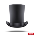 Black big gentleman hat cylinder vector image
