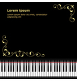 musical template 02 vector image vector image