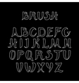 White handwritten calligraphic alphabet on black vector image
