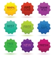 colored badges vector image vector image