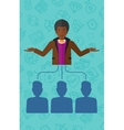 Boss with arms opened vector image vector image