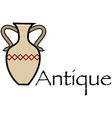 Antique vase vector image