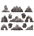 cartoon 3d rock and stone set vector image