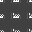 Chart icon sign Seamless pattern on a gray vector image