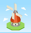 windmill isometric vector image